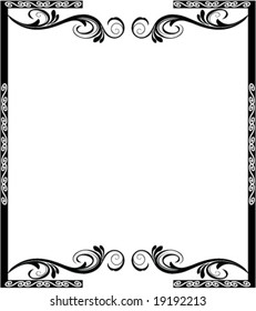 ornamental frame with floral elements