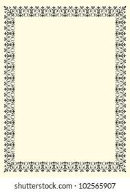 ornamental  frame vintage in editable vector file