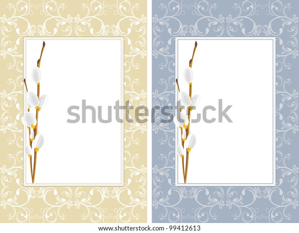 ornamental-frames-willow-branches-vector
