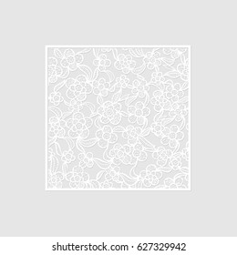 Ornamental Lacy Pattern for Laser Cutting, Engraving, Paper Cutting, Stamping and Card Design. Vector Illustration.