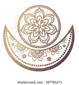 Ornamental of muslim community Ramadan Kareem. Invitation card in vector. Perfect  cards for any other kind of design, birthday and other holiday, kaleidoscope, mandala,india, arabic