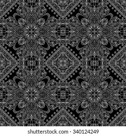 Ornamental paisley pattern, for textile, wrapping, bandanna