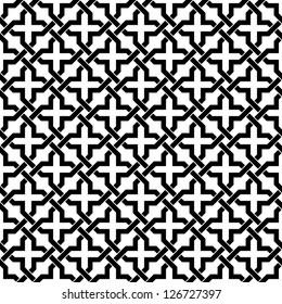 Ornamental pattern. Seamless Moroccan background.