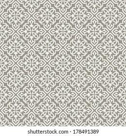 Ornamental pattern. Traditional Arabic seamless ornament.