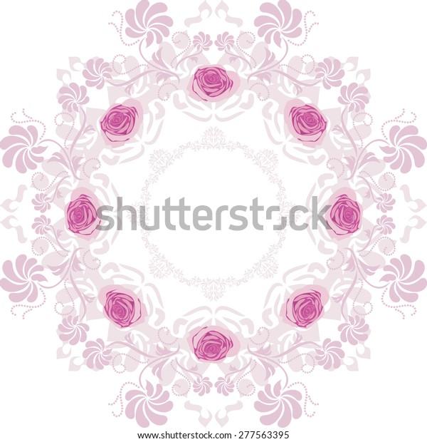 ornamental-purple-circular-element-roses
