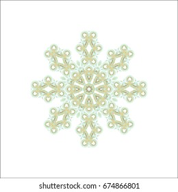 Ornamental rosette on white background