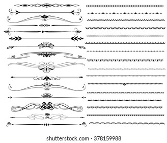 Ornamental rule lines in different designs