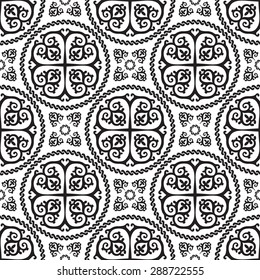 Ornamental seamless  byzantine art style pattern. Vector abstract background
