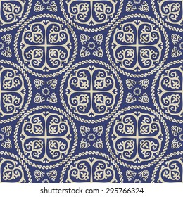 Ornamental seamless byzantine art style pattern. Abstract background