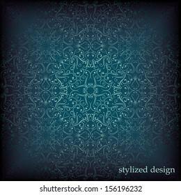Ornamental seamless paper-designed texture