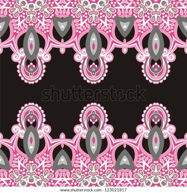 Ornamental seamless pattern for paisley. Vector illustration.