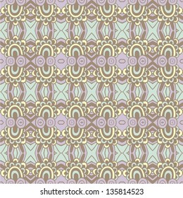 Ornamental seamless pattern. Vector illustration.