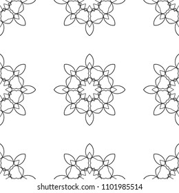 Ornamental seamless retro pattern. Vector abstract background.