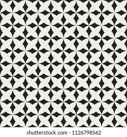 Ornamental star tiles seamless vector pattern. Abstract floral arabesque background.