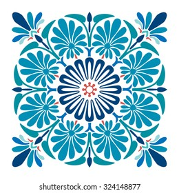Ornamental Tile Vector Design
