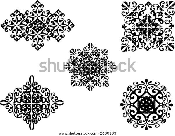ornamental vector illustrations
