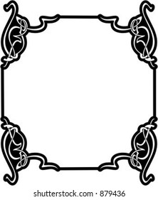 Ornamental Vector Panel/Frame 70 with very clean and exquisite details.