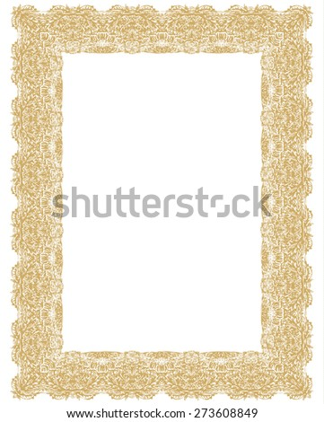 ornamental vertical diploma frame stock vector royalty free