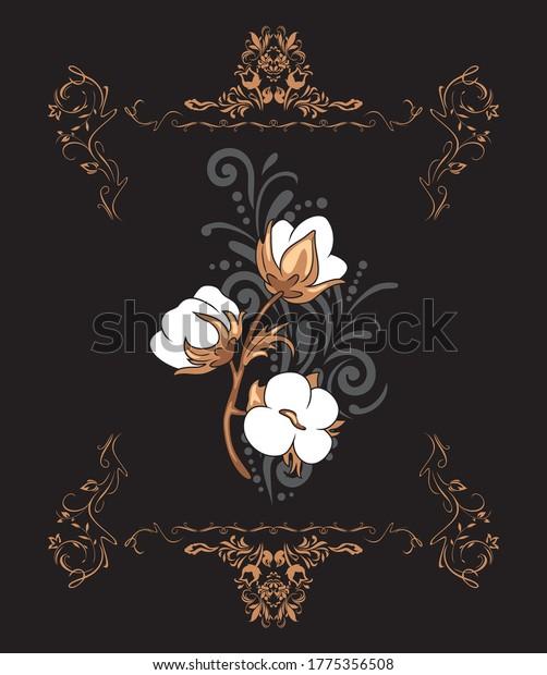 ornamental-vintage-element-blooming-cott
