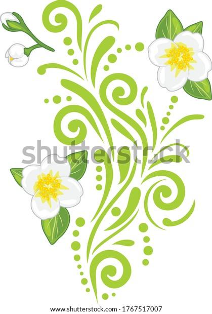 ornamental-vintage-element-blooming-jasm