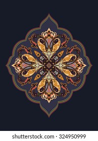 Ornamental vintage pattern for wedding invitations and greeting cards, traditional design