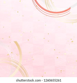 Ornaments like strings and elegant backgrounds of Japanese paper style