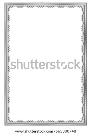 Ornate Black Rectangular Frame Lattice Pattern Stock Vector (Royalty ...