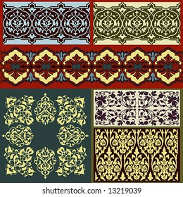 ornate borders and other design elements