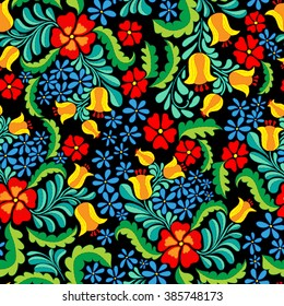 Ornate and colorful vector seamless ethnic pattern in mexican style. Seamless abstract ethnic ornament