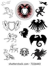 ornate crest emblems