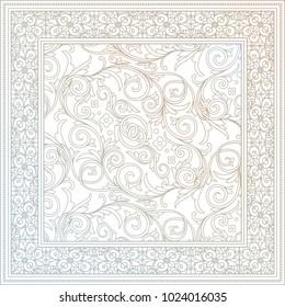 Ornate decorative floral design card
