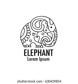 Ornate elephant design