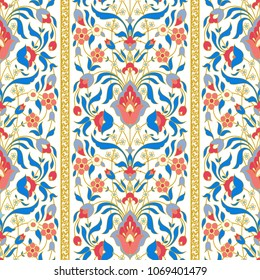 Ornate floral ornament. Vector seamless pattern in oriental style