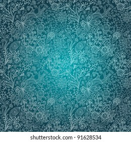 Ornate floral seamless texture, endless pattern with flowers. Seamless pattern can be used for wallpaper, pattern fills, web page background, surface textures. Gorgeous seamless floral background