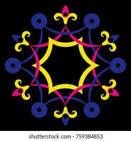 ornate frame, garland decoration, vector illustration, ornamental design