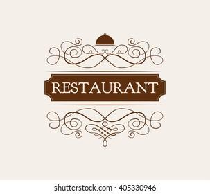 Ornate frame  restaurant elements.  Menu Vintage and filigree decoration. Ornate frames and scroll  swirls element. Filigree divider Invitation. scroll invitation. filigree element. divider vintage