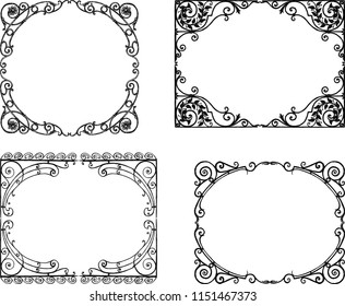 Ornate frames in the art nouveau style