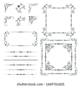 Ornate frames and scroll elements for weddings