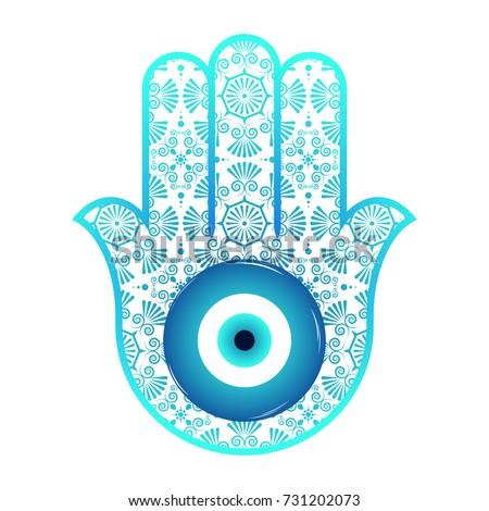 Ornate Hamsa Amulet Against Evil Eye Stock Vector (Royalty Free ... 707008e94928