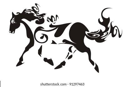 Ornate horse