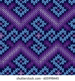fd7609147 Zigzag Knitted Background Ugly Sweater Pattern Stock Vector (Royalty ...