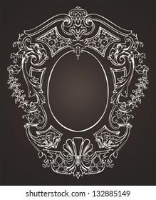 Ornate Oval Retro Frame