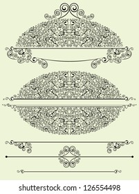 ornate oval for text