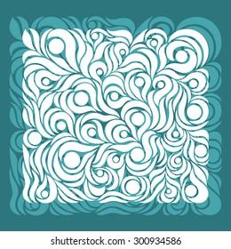 Ornate pattern aqua