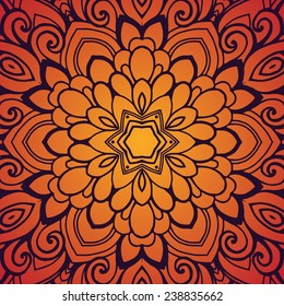 Ornate pattern. Vector artwork.