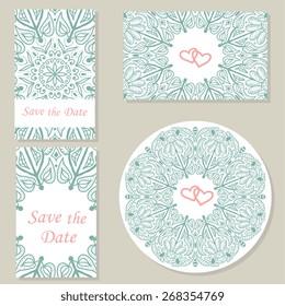 Ornate set element for design, place for text.Ornament vintage illustration for wedding invitations, greeting cards.