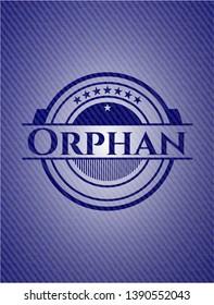 Orphan denim background. Vector Illustration. Detailed.
