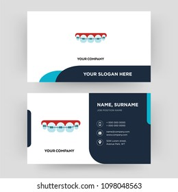 orthodontist, business card design template, Visiting for your company, Modern Creative and Clean identity Card Vector