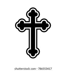 Orthodox cross vector icon.