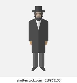 Orthodox jew. Flat icon